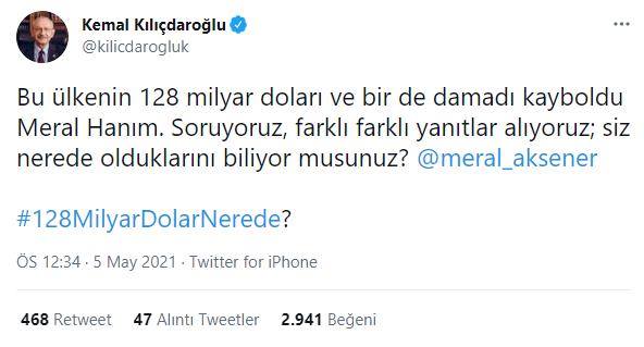 Hükümetten Cevap Alamayan Kılıçdaroğlu Bu Kez Akşener'e Sordu - Tamga Türk